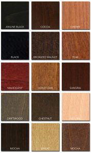 UV Finish Stain Options