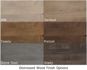 Industrial Chair Wood Finish Options
