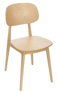 Ema Mid-Century Wooden Restaurant Chair