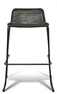 Knot Outdoor Restaurant Patio Bar Stool Marine Rope Charcoal Halfback