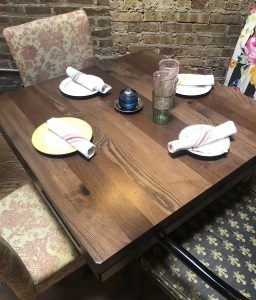 Multi-Species Rustic Restaurant Table