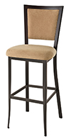 Colette Upholstered Industrial Bar Stool thumb